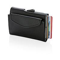 Кошелек с отделением для монет и держателем для карт C-Secure RFID, черный, черный, Длина 9,8 см., ширина 6,5