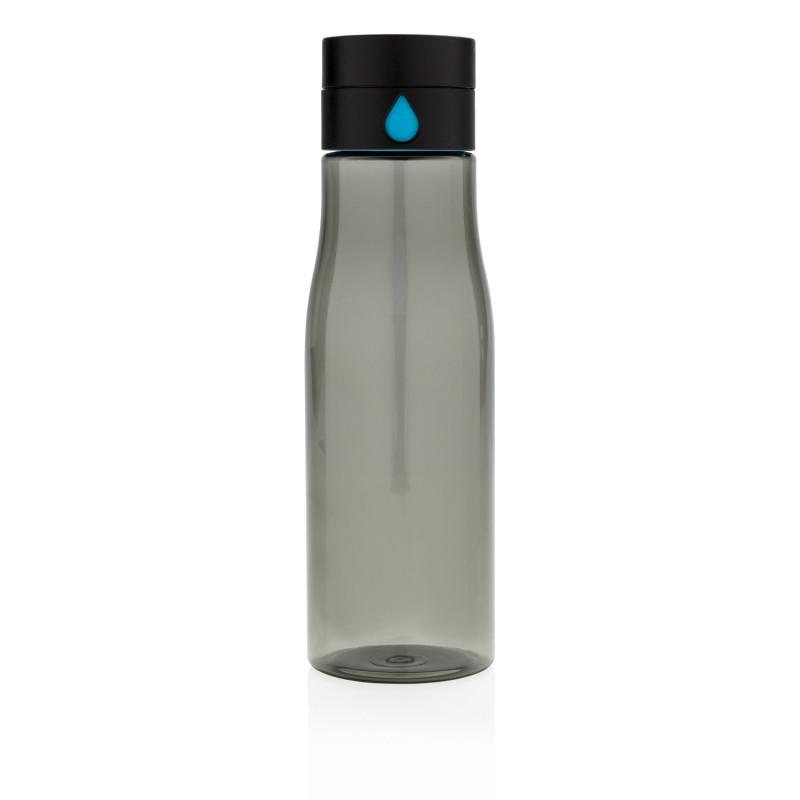 Бутылка для воды Aqua из материала Tritan, черная, черный, , высота 23 см., диаметр 7 см., P436.891