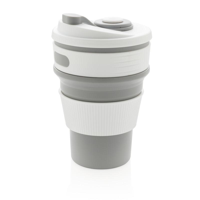Складная силиконовая термокружка, серая, серый, , высота 14 см., диаметр 8,7 см., P432.602