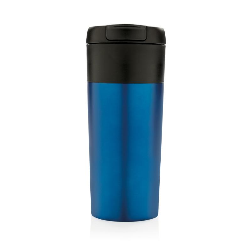 Термокружка Flip-lid, синяя, синий, , высота 18,8 см., диаметр 8,3 см., P432.955