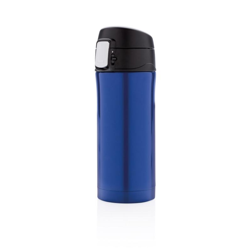 Термокружка Easy lock, 300 мл, синяя, синий; черный, , высота 19 см., диаметр 6,5 см., P432.655