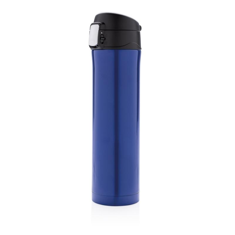 Термокружка Easy Lock, синяя, синий; черный, , высота 25,5 см., диаметр 6,5 см., P433.990