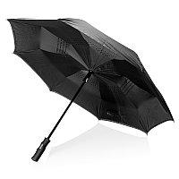 """Автоматический двухсторонний зонт Swiss peak 23"""", черный, , высота 75 см., диаметр 105 см., P850.161"""