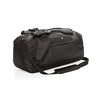 Спортивная сумка-рюкзак Swiss peak с защитой от считывания данных RFID, черный, Длина 59 см., ширина 27,5 см.,