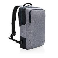 """Рюкзак Arata для ноутбука 15"""", серый; черный, Длина 46 см., ширина 30 см., высота 9 см., P762.172"""
