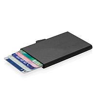 Алюминиевый держатель для карт C-Secure, черный, черный, Длина 9,5 см., ширина 6,4 см., высота 0,8 см.,