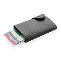 Кошелек с держателем для карт C-Secure RFID, черный, черный; серебряный, Длина 9,5 см., ширина 6,8 см., высота