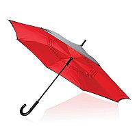 """Механический двусторонний зонт 23"""", красный, красный, , ширина 4,5 см., высота 85 см., диаметр 115 см.,"""