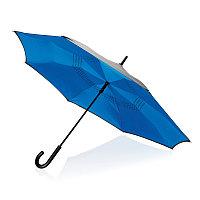 """Механический двусторонний зонт 23"""", синий, синий, , ширина 4,5 см., высота 85 см., диаметр 115 см., P850.095"""