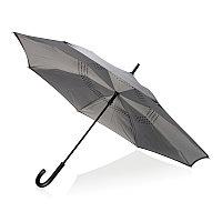 """Механический двусторонний зонт 23"""", серый, серый, , ширина 4,5 см., высота 85 см., диаметр 115 см., P850.092"""