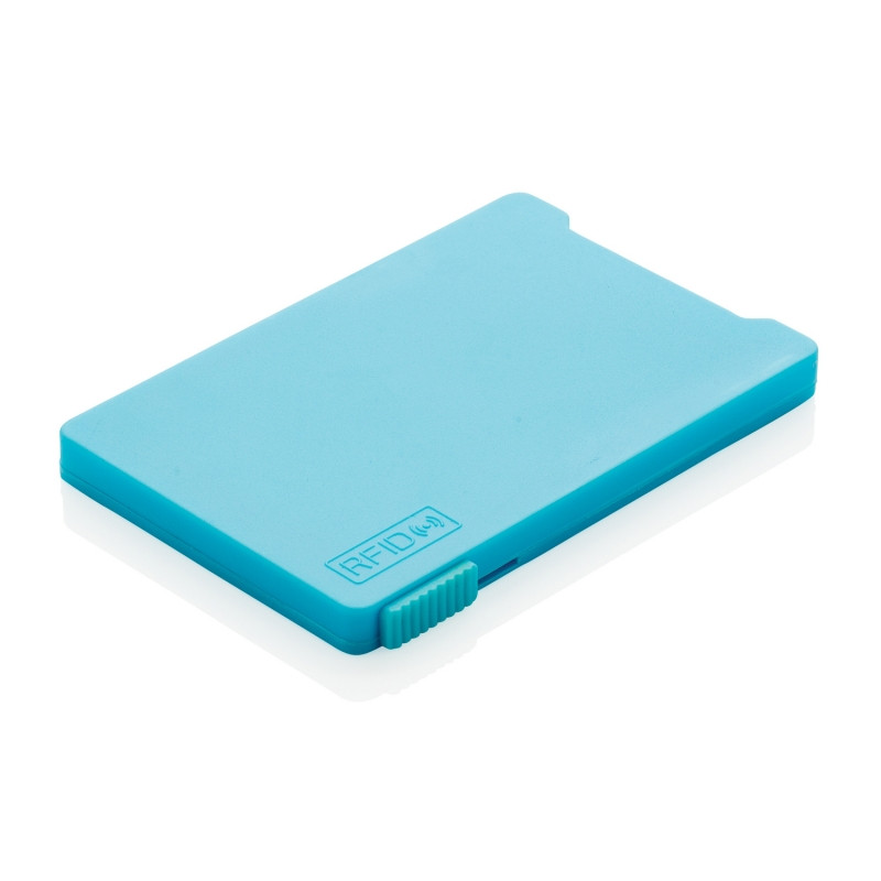 Держатель RFID для пяти карт, синий, синий, Длина 9,4 см., ширина 6,5 см., высота 0,5 см., P820.475