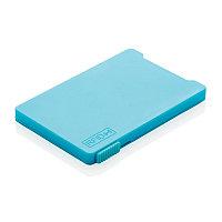 Держатель RFID для пяти карт, синий, синий, Длина 9,4 см., ширина 6,5 см., высота 0,5 см., P820.475, фото 1