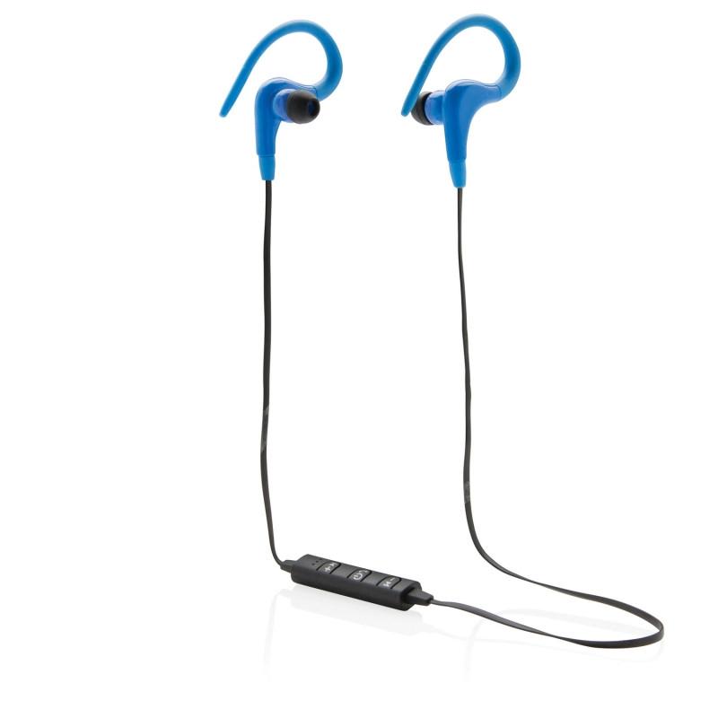 Беспроводные наушники Workout, синий, синий, Длина 73 см., ширина 1 см., высота 3,5 см., P326.255