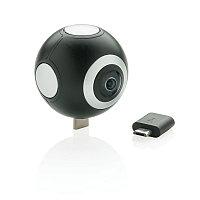 Двухобъективная камера 360, черный, Длина 9,4 см., ширина 5,3 см., высота 9,4 см., P330.951