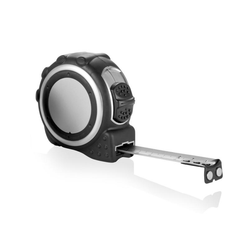 Рулетка Rubber, 5 м, серебряный; черный, Длина 7 см., ширина 7 см., высота 4 см., P113.152