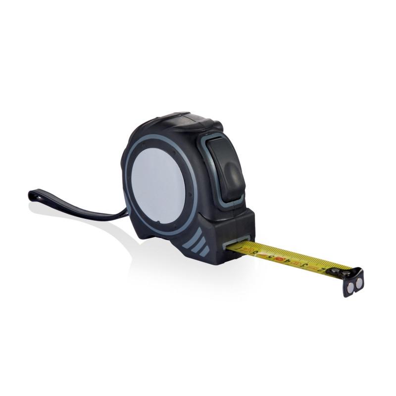 Рулетка Grip, 3 м, серый; черный, Длина 6,9 см., ширина 3,8 см., высота 6,7 см., P113.432