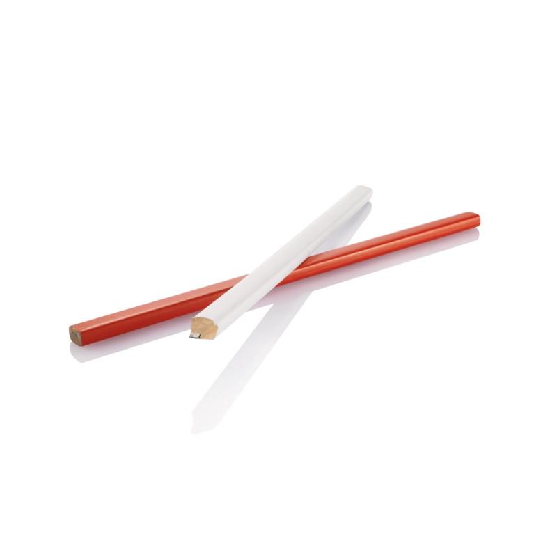 Деревянный карандаш, 25 см, белый, белый, Длина 25 см., ширина 1 см., высота 0,6 см., P169.253