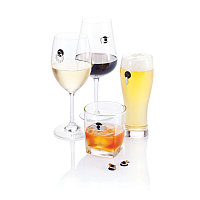 Набор маркеров для бокалов Cheers, серебряный, Длина 7,4 см., ширина 6 см., высота 0,5 см., P263.002