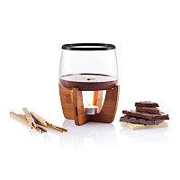 Набор для шоколадного фондю Cocoa, черный; коричневый, Длина 16 см., ширина 16 см., высота 19,5 см., диаметр