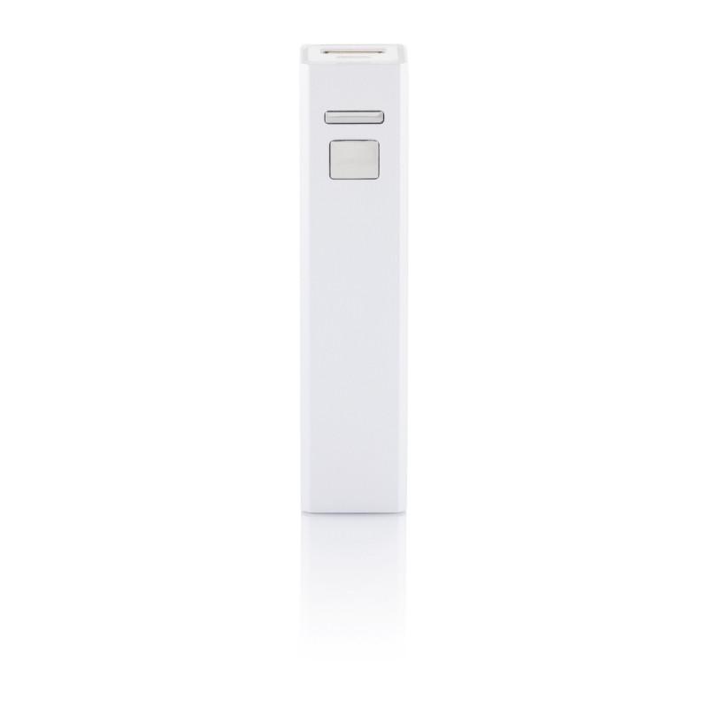 Универсальное зарядное устройство 2200 mAh, серебряный, серый, Длина 9,5 см., ширина 2,2 см., высота 2,2 см.,