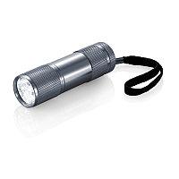Алюминиевый фонарик Quattro, серый, серый, Длина 2,5 см., высота 9 см., диаметр 2,6 см., P513.272, фото 1