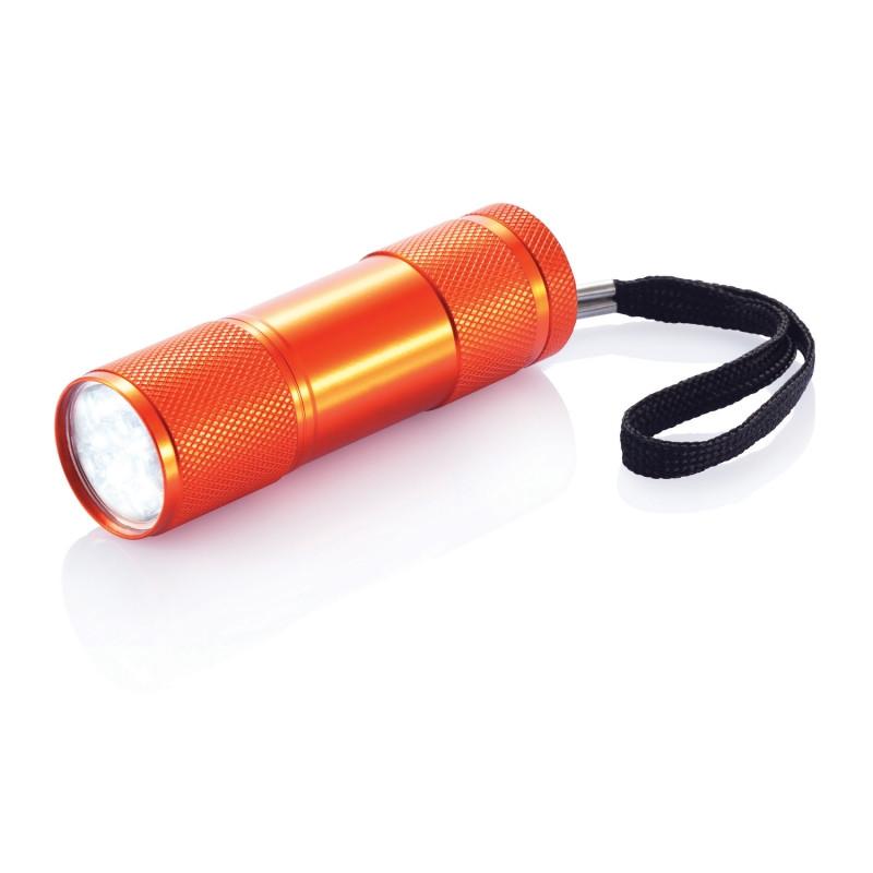 Алюминиевый фонарик Quattro, оранжевый, оранжевый, Длина 2,5 см., высота 9 см., диаметр 2,6 см., P513.278