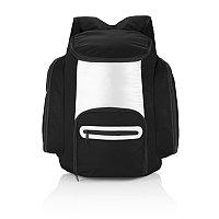 Рюкзак-холодильник, черный, черный; серебряный, Длина 40 см., ширина 32 см., высота 16,5 см., P733.181