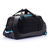 Дорожная сумка на колесах Large adventure, синий; черный, Длина 43,5 см., ширина 75 см., высота 38 см.,