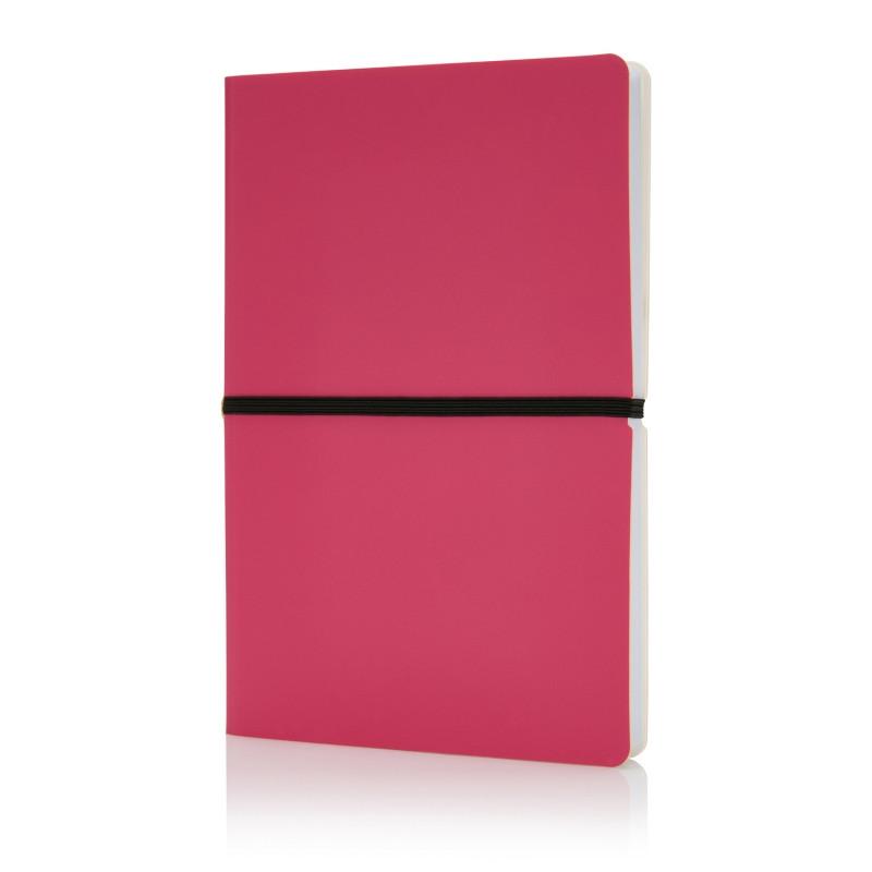 Блокнот формата A5, розовый, розовый, Длина 21,4 см., ширина 14,5 см., высота 1,3 см., P773.020