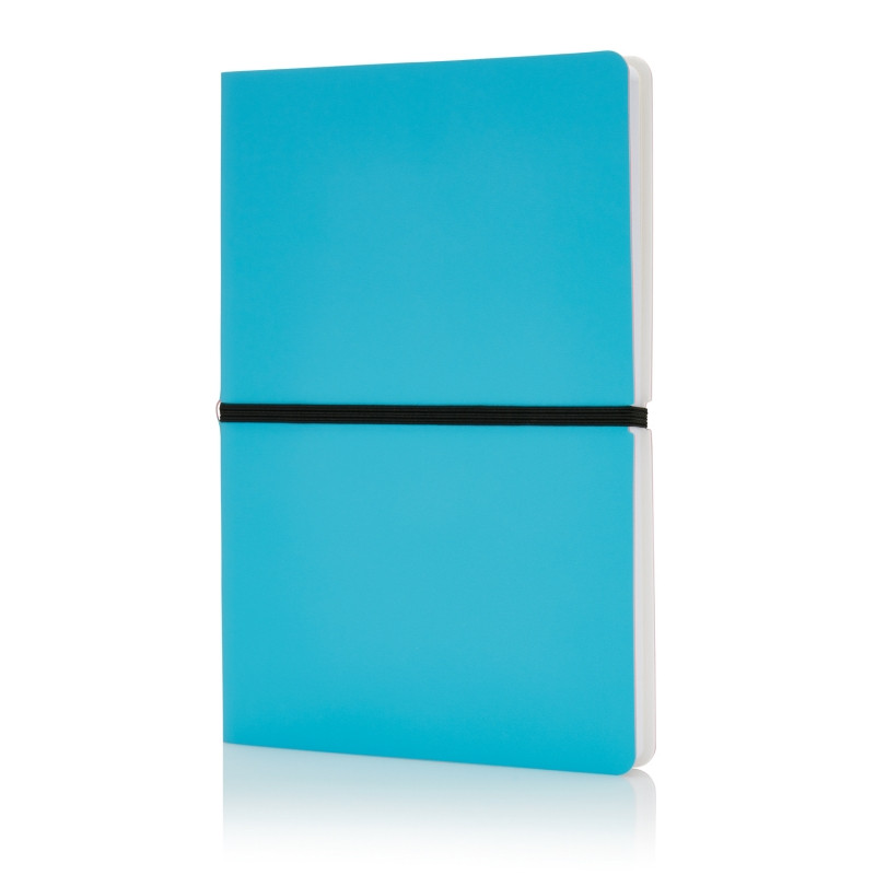 Блокнот формата A5, синий, синий, Длина 21,4 см., ширина 14,5 см., высота 1,3 см., P773.025
