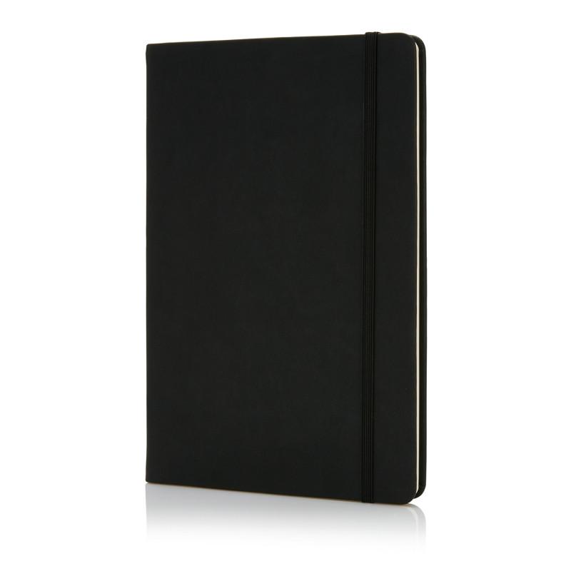 Блокнот Deluxe в твердой обложке A5, черный, Длина 1,5 см., ширина 14,5 см., высота 21,5 см., P773.421