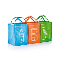 3 сумки для сортировки мусора, зеленый, Длина 41,6 см., ширина 29 см., высота 29,2 см., P795.007