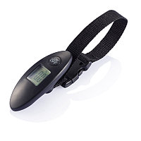 Электронные весы для багажа, черный, черный, Длина 3,5 см., ширина 10 см., высота 3 см., P820.301