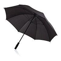 """Зонт-трость антишторм  Deluxe 30"""", черный, черный, , высота 96 см., диаметр 125 см., P850.301"""
