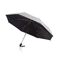 """Складной зонт-автомат Deluxe 21,5"""", серебряный, серебряный; черный, , высота 57,3 см., диаметр 96 см.,"""