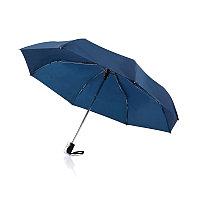 """Складной зонт-автомат Deluxe 21,5"""", темно-синий, синий, , высота 57,3 см., диаметр 96 см., P850.365"""