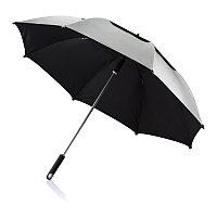 Зонт-трость антишторм Hurricane 27, серый, серый, , высота 96 см., диаметр 120 см., P850.502