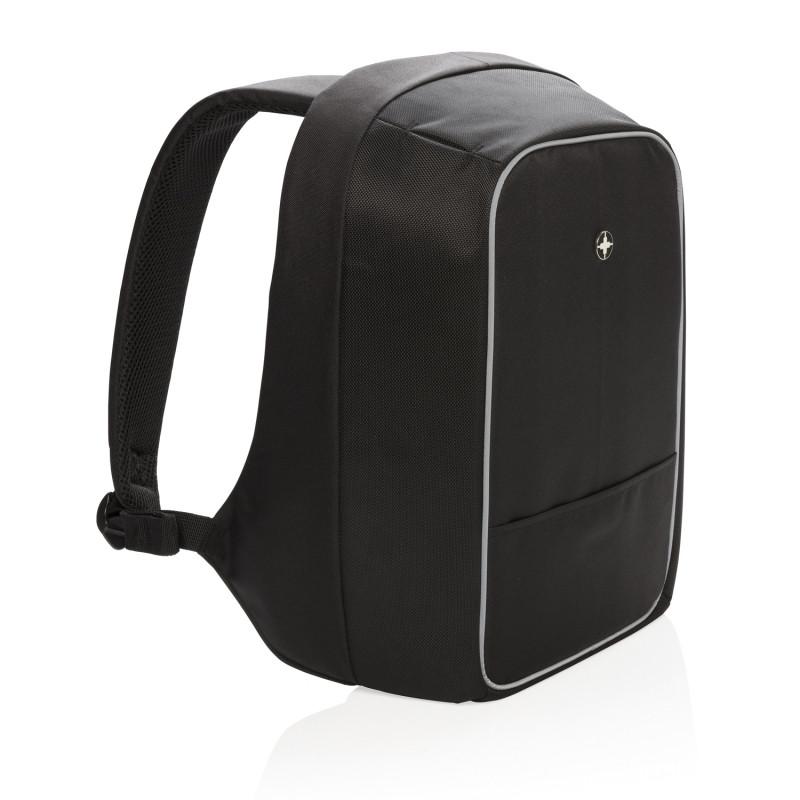Рюкзак для ноутбука Swiss Peak с защитой от карманников, черный, Длина 11 см., ширина 24 см., высота 43 см.,