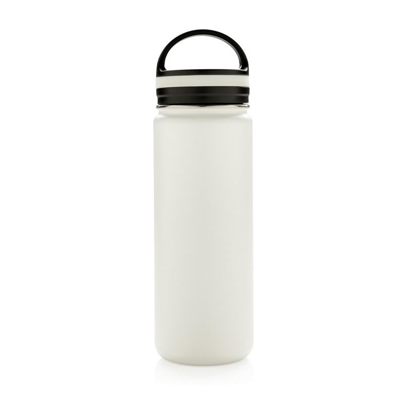 Герметичная вакуумная бутылка с широким горлышком, белая, белый, , высота 25 см., диаметр 7,3 см., P436.623
