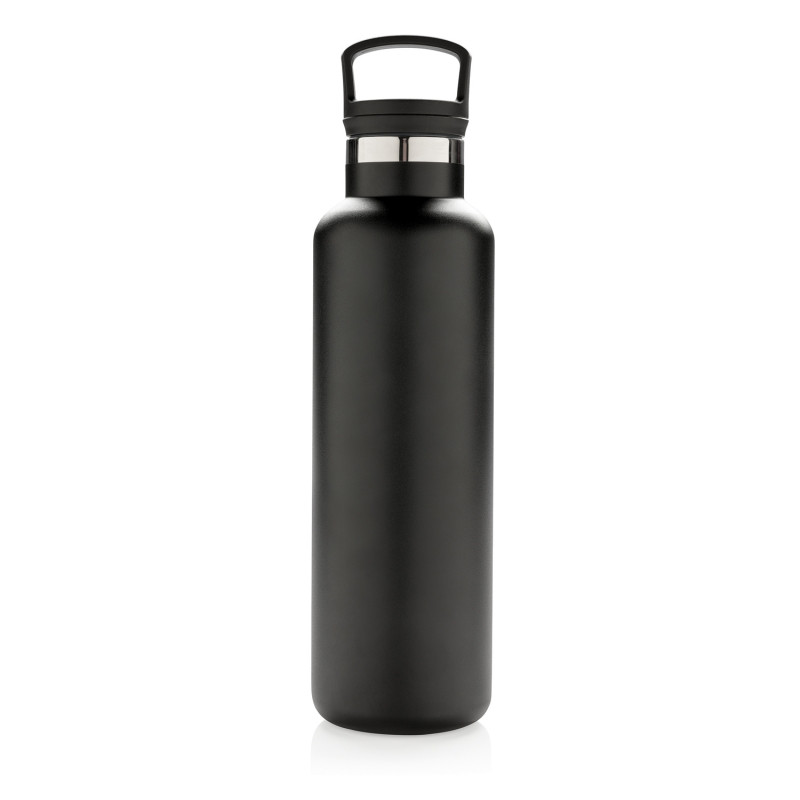 Герметичная вакуумная бутылка, черная, черный, , высота 27,5 см., диаметр 7,3 см., P436.661