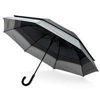 """Расширяющийся зонт-антишторм Swiss Peak 23"""" - 27"""", черный, черный; серый, , высота 83,5 см., диаметр 135 см.,"""