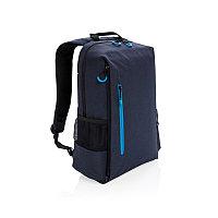 """Рюкзак для ноутбука Lima 15"""" с RFID защитой и разъемом USB, синий, темно-синий; синий, Длина 29 см., ширина 12"""