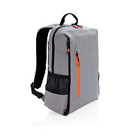 """Рюкзак для ноутбука Lima 15"""" с RFID защитой и разъемом USB, серый, серый; оранжевый, Длина 29 см., ширина 12"""