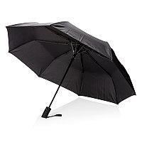"""Складной зонт-полуавтомат Deluxe 21"""", черный, черный, Длина 31,5 см., ширина 5,5 см., высота 56,5 см., P850.271"""