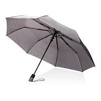 """Складной зонт зонт-полуавтомат  Deluxe 21"""", серый, серый, Длина 31,5 см., ширина 5,5 см., высота 56,5 см.,"""