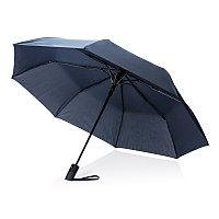 """Складной зонт-полуавтомат  Deluxe 21"""", синий, синий, Длина 31,5 см., ширина 5,5 см., высота 56,5 см., P850.275"""
