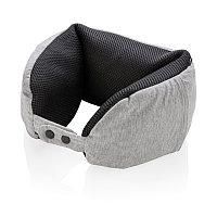 Подушка для путешествий Deluxe  с наполнителем Microbead, серый, серый; черный, Длина 59 см., ширина 13 см.,