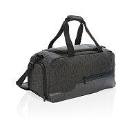 Спортивная сумка, черный, черный, Длина 49 см., ширина 24 см., высота 25 см., P762.431