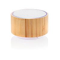 Колонка Bamboo, белый; коричневый, , высота 4,5 см., диаметр 7,5 см., P328.229