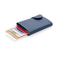 Кошелек с держателем для карт C-Secure RFID, голубой, синий, Длина 9,5 см., ширина 6,8 см., высота 1,6 см.,